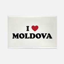 I Love Moldova Rectangle Magnet