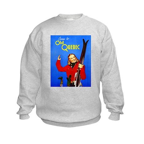 Quebec Travel Poster 1 Kids Sweatshirt