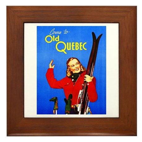 Quebec Travel Poster 1 Framed Tile
