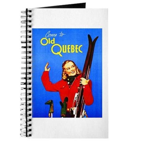 Quebec Travel Poster 1 Journal