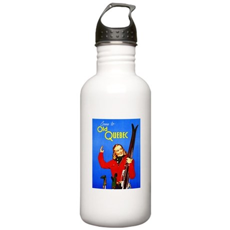Quebec Travel Poster 1 Stainless Water Bottle 1.0L
