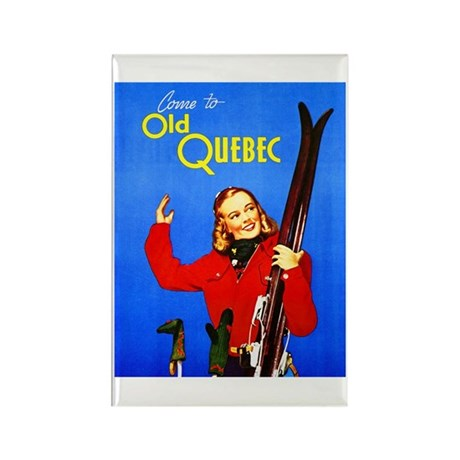 Quebec Travel Poster 1 Rectangle Magnet (100 pack)