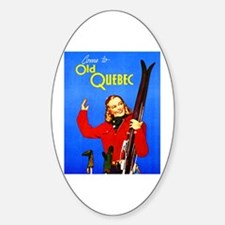 Quebec Travel Poster 1 Sticker (Oval)
