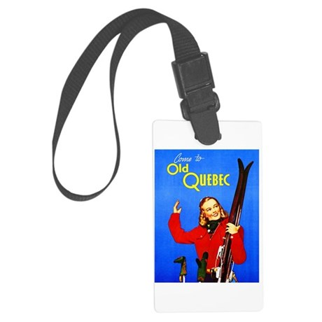 Quebec Travel Poster 1 Large Luggage Tag