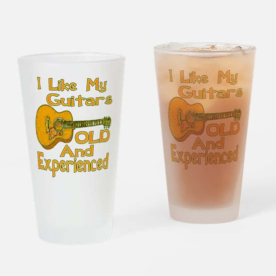Old Guitar Drinking Glass