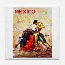 Mexico Travel Poster 2 Tile Coaster