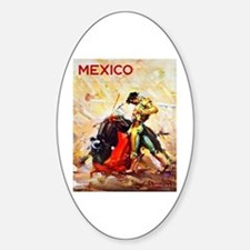 Mexico Travel Poster 2 Decal