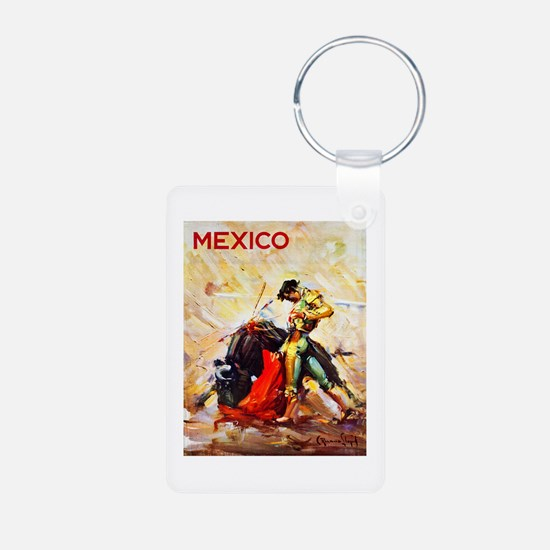 Mexico Travel Poster 2 Keychains