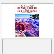 Utah Travel Poster 1 Yard Sign