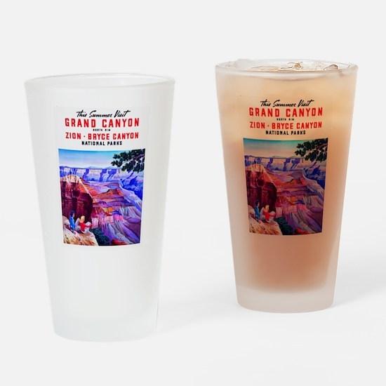 Utah Travel Poster 1 Drinking Glass