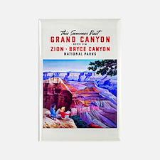 Utah Travel Poster 1 Rectangle Magnet (10 pack)