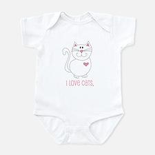 I Love Cats Infant Creeper