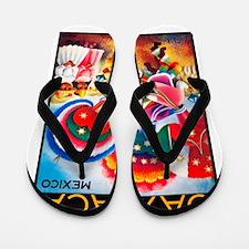 Mexico Travel Poster 5 Flip Flops