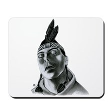 Sky Blackfeather B&W Mousepad
