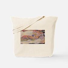 Nude Klimt Water Serpents Tote Bag