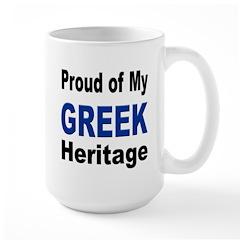 Proud Greek Heritage Mug