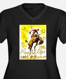 Old West Travel Poster 1 Women's Plus Size V-Neck