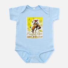 Old West Travel Poster 1 Infant Bodysuit