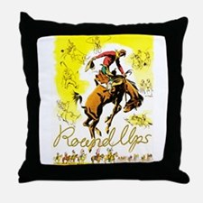 Old West Travel Poster 1 Throw Pillow