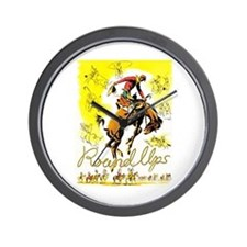 Old West Travel Poster 1 Wall Clock