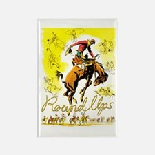 Old West Travel Poster 1 Rectangle Magnet