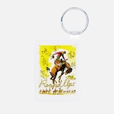 Old West Travel Poster 1 Keychains