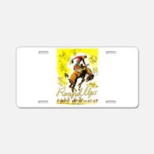 Old West Travel Poster 1 Aluminum License Plate