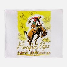 Old West Travel Poster 1 Throw Blanket