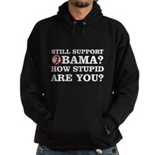 Still Support Obama? How Stupid Are You? Hoodie