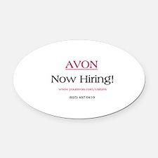 Avon Recruiting Oval Car Magnet