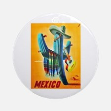 Mexico Travel Poster 10 Ornament (Round)