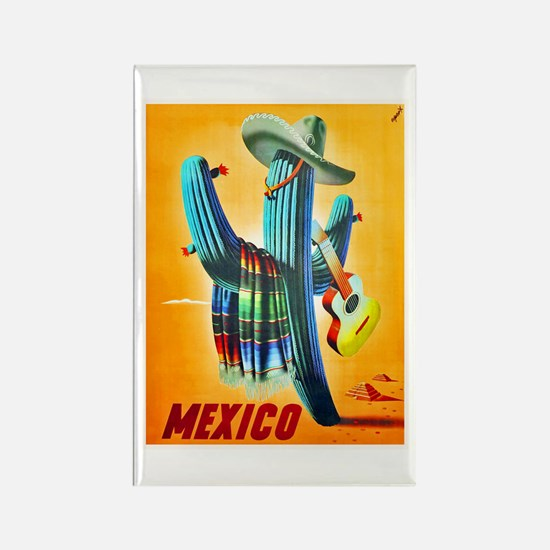 Mexico Travel Poster 10 Rectangle Magnet