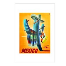 Mexico Travel Poster 10 Postcards (Package of 8)