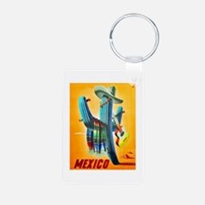 Mexico Travel Poster 10 Keychains