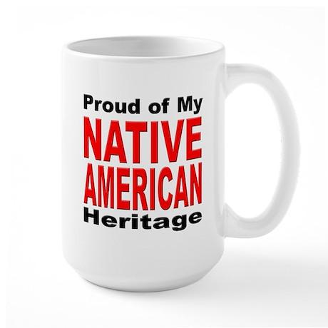 Proud Native American Heritage Large Mug