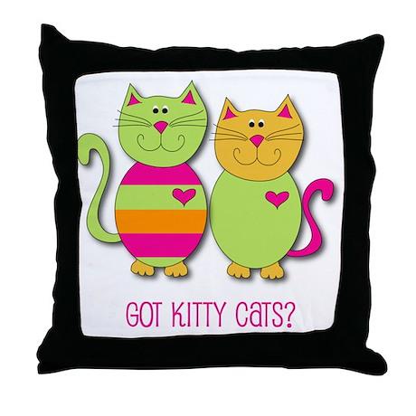 Got Cats? Throw Pillow