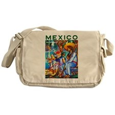 Mexico Travel Poster 3 Messenger Bag