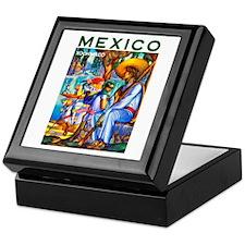Mexico Travel Poster 3 Keepsake Box