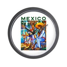 Mexico Travel Poster 3 Wall Clock