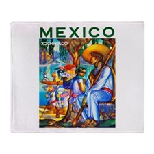 Mexico Travel Poster 3 Throw Blanket