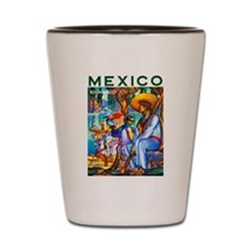 Mexico Travel Poster 3 Shot Glass