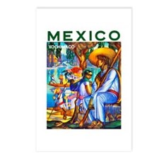 Mexico Travel Poster 3 Postcards (Package of 8)