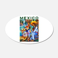 Mexico Travel Poster 3 Wall Decal