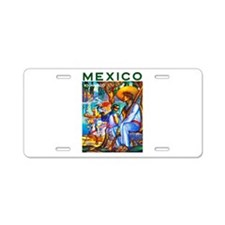 Mexico Travel Poster 3 Aluminum License Plate