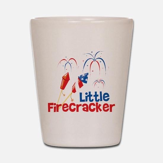 4th of July Little Firecracker Shot Glass