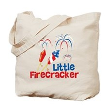 4th of July Little Firecracker Tote Bag