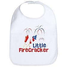 4th of July Little Firecracker Bib