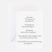 Dear Santa adult Greeting Card