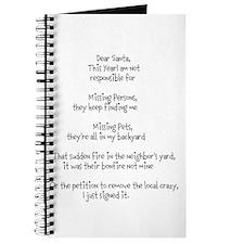 Dear Santa adult Journal