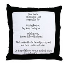 Dear Santa adult Throw Pillow